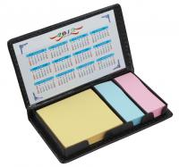 Mini Sticky Memo Notes Pad in PU Case with Calendar