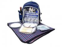 600D Polyester Picnic Back Pack with Wine Cooler and Cooler Bag Compartment