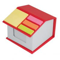 Post-it house with note sheets- sticky notes and adhesive markers