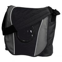 CrisMa business / conference bag with round compartment- mobile phone bag- front flap and shoulder strap