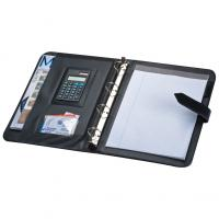 Executive A4 PU folder with ring binder- note pad and calculator