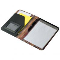 CrisMa A5  folder with notepad- compartments and metal plaque.