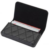 CrisMa business card holder with a modern quilt pattern- magnetic closure- plaque and black velour lining