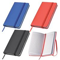 Hard cover A5 note book with elastic strap and bookmark