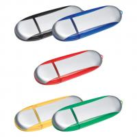 Metallic and transparent colour USB memory stick / flash drive