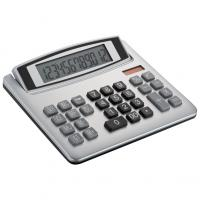 Plastic dual powered desk calculator with 12 digits and big keys
