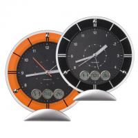 Desk clock with alarm- day- date and temperature display