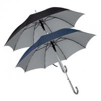 Polyester automatic umbrella with UV protection and aluminium hook handle
