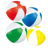 2 coloured inflatable PVC beach ball