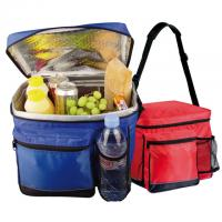 12 can cooler bag with side net