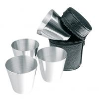 Set of 4 stainless steel shooter cups (25ml)