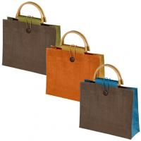 Eco-Friendly jute bag with bamboo handle