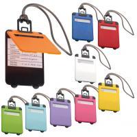 Colourful plastic luggage tag