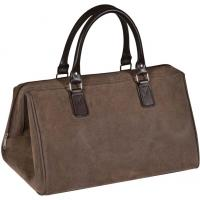Brown leatherette overnight bag