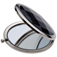 Compact mirror with black finish and a press button7868)