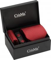 CrisMa gents gift set with a silk tie- pocket handkerchief and matching cuff links