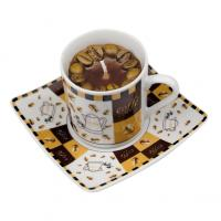 Coffee scented candle in a re-usable espresso cup