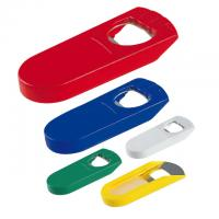 Plastic bottle opener and bottle stopper