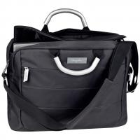 Micro fibre Ferraghini laptop bag with aluminium carry handles and padded shoulder strap