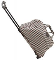 600D Checkered Trolley Bag