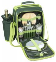 600D Polyester Duet Picnic Shoulder Bag with Handle- Shoulder Strap- Wine Cooler and Cooler Bag Compartment