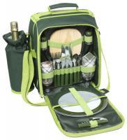 600D Polyester Duet Picnic Shoulder Bag with Handle- Shoulder Strap- Wine Cooler and Cooler Bag Compartment