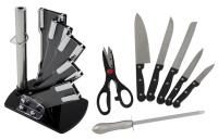 7 Piece Bakelite and Stainless Steel Fan Knife Set