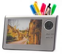 Photo Frame Digital Alarm Clock Pen Holder