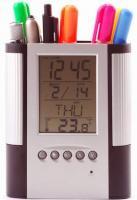 Digital Alarm Clock Stationery Holder