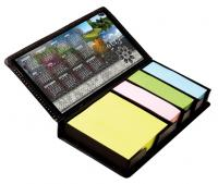 Sticky Memo Notes in PU Pad Case with Calendar