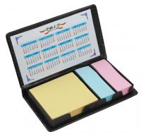 Mini Sticky Memo Notes Pad in PU Case with Calendar