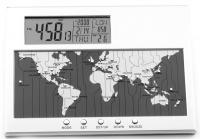 World Time Map Digital Desk Clock