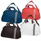 Polyester sports / overnight bag with double stripe