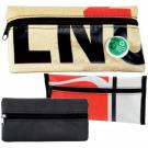 Eco Friendly Up-cycled PVC small pencil case with zip