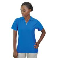 Ladies Poly Jacquard Sports Polo Shirt