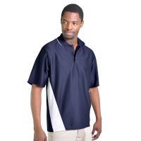 Angled Panel Sports Polo Shirt