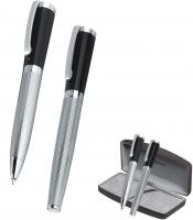 Lumino - Metal Ballpen and Rollerball Set. (Bettoni)