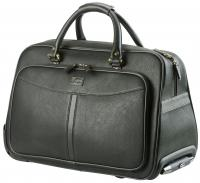 Overrnight leather trolley bag