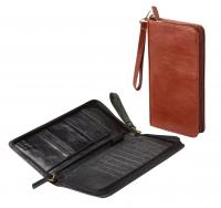 Exclusive leather travel wallet