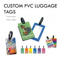 CUSTOM PVC LUGGAGE TAGS