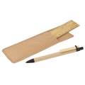 BP0045 - Bamboo Ruler and Recycled Pen Set