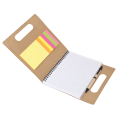 BF0022 - Recycled Paper Notebook With Pen Sticky Flags and Memo Notes