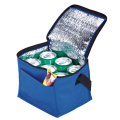 BC0012 - 6 Can Cooler with Foil Liner and Pocket - Non-Woven Foil Lining