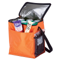 BC0006 - 12 Can Cooler with 2 Exterior Pockets - 70D - PEVA Lining