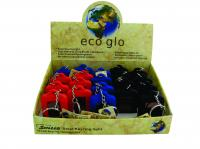 SUPALED ECO-GLO SOLAR KEYRING LIGHT - ASSORTED/20PC DISP BOX