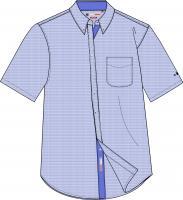 Mens Short Sleeve Woven Shirt - Marine
