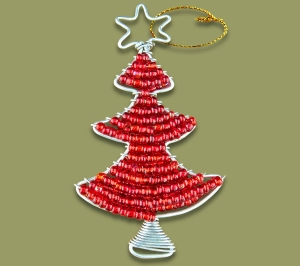 African Beaded Christmas Tree