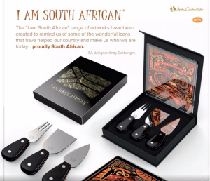 I AM South Africa Cheese board and utensils