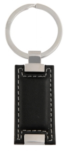 Leatherette Rectangle Keyring
