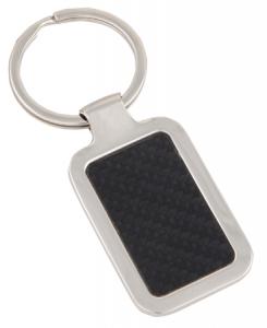 Leatherette Metal Keyring